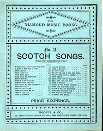 Scotch Songs (first selection) - The Diamond Music Books No. 11