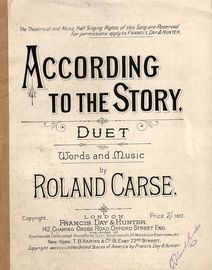 According to the Story - Duet with Piano accompaniment