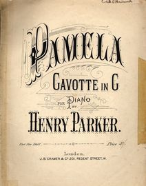 Pamela - Gavotte in G - For Piano