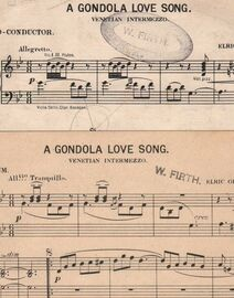 A Gondola Love Song - Venetian Intermezzo