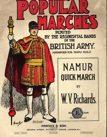 Namur - Quick March - For Piano Solo - Popular Marches played by Regimental Bands of the British Army series