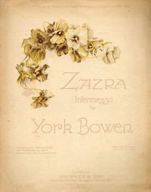 Zazra - Intermezzo - For Piano Solo - First Prize in Hawkes and Son's Intermezzo Competition 1919-1920
