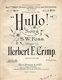 Hullo - Sung with Great Success by Robert Dennant - Edgar Coyle - Ian Colquhoun