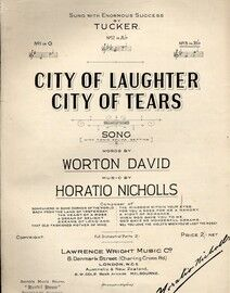 City of Laughter City of Tears - Song in the key of B flat major for high voice