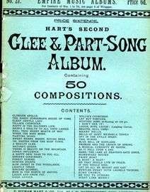 Hart's Second Glee & Part Song Album - 50 Compositions (not full versions) - Empire Music Albums Series No. 27