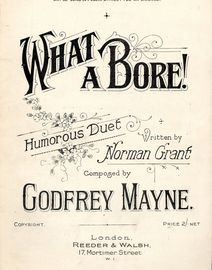What a Bore! - Humorous Duet for Two Gentlemen