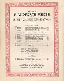 Allegretto quasi Andante from Sonatina Op. 20, No. 2 - Select Pianoforte Pieces used at Trinty College Examinations - Junior Syllabus - English Finger