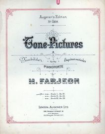 Tone Pictures - For Pianoforte - Book I - Augener's Edition No. 5168 - Op. 19