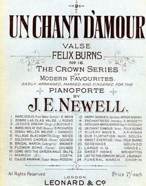 Un Chant D\'Amour - The Crown Series of Modern Favourites No. 16