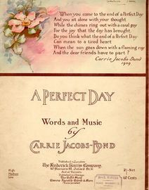 A Perfect Day - Key of C major for High voice - Compass G to F