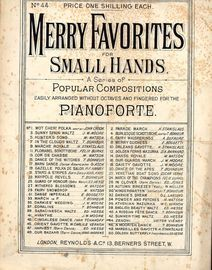Zenoni - No. 44 from 'Merry Favorites for Small Hands' - Easily arranged without octaves for the pianoforte