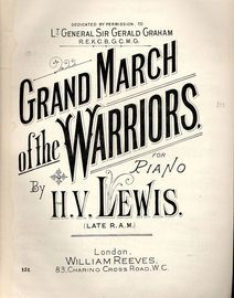 Grand March of the Warriors - For Piano