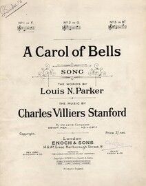 A Carol of Bells - Song in the key of F major for Low Voice