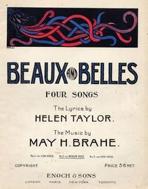 Beaux and Belles - Four Songs - No. 2 for Medium Voice