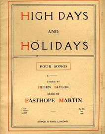 High Days and Holidays -  Four songs  for High Voice