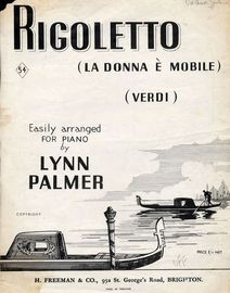 Rigoletto (La Donna E Mobile) - Piano Solo - Easily arranged