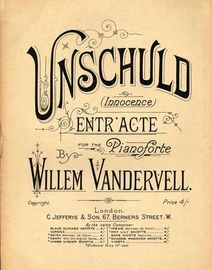 Unschuld (Innocence) - Entr\'acte for Piano