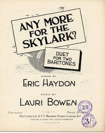 Any More for the Skylark? - Duet for two Baritones