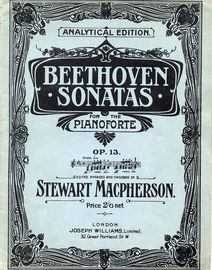 Beethoven - Sonata in C minor - Op. 13 - From Beethoven Sonatas - For the Pianoforte - Analytical Edition No. 8
