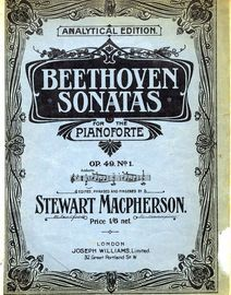 Beethoven - Sonata No. 19 - In G minor - Op. 49 - No. 1 - From Beethoven Sonatas for the Pianoforte - Analytical Edition