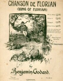 Chanson De Florian (Song of Florian) - Song in the key of D Major for Medium High Voice