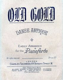 Old Gold - Danse Antique for piano