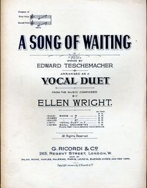 A Song of Waiting - Vocal Duet in the key of F major
