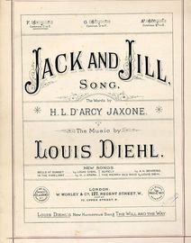 Jack and Jill - Song - In the key of F major for low voice