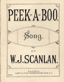 Peek-A-Boo - Song - Hart and Co. edition No. 605