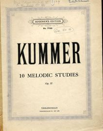 10 Melodic Studies for Violoncello with accompaniment of a second Violoncello ad lib. - Augeners edition No. 7735 - Op. 57