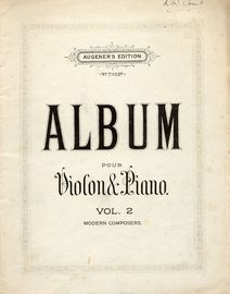Album pour Violon et Piano - Augeners Edition No. 7322b - Vol. 2 - Modern Composers