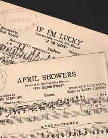 DANCE BAND with Vocals:-  (a) April Showers - Fox Trot  &  (b) If I'm Lucky - From the 20th Century-Fox Musical
