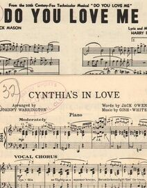 DANCE BAND with Vocals:- (a) 'Cynthia's in Love'   &   (b) 'Do You Love Me'  - from 20th Century-Fox Technicolor Musical