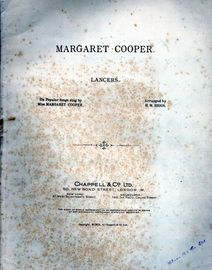 Margaret Cooper Lancers - On Popular Songs by Miss Margaret Cooper - For Piano Solo