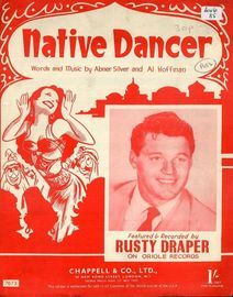 Native Dancer - Featured and Recorded by Rusty Draper on Oriole Records - For Piano and Voice with chord symbols
