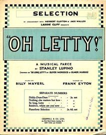 Oh Letty! - Piano Selection from the Musical Farce by Stanley Lupino - For Piano Solo