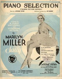 Sally - Piano Selection (Talking Picture Edition) from A first national and Vitaphone Picture as sung by Marilyn Miller