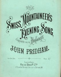 Swiss Mountaineers Evening Song - For Piano
