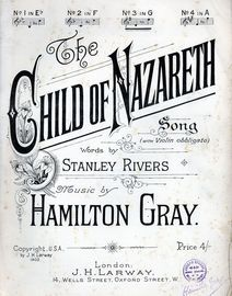 Child of Nazareth - Song with Violin obbligato - In the key of G major