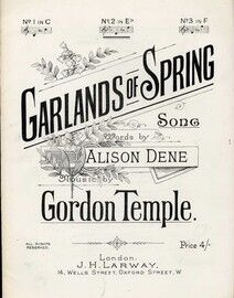 Garlands of Spring - Song in the key of E flat major for Medium Voice