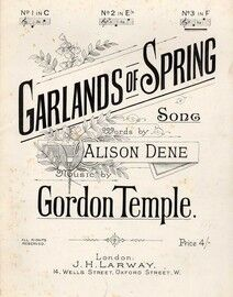 Garlands of Spring - Song in the key of F major for High Voice
