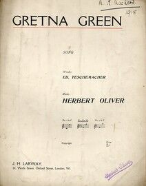 Gretna Green - Song in the key of E flat major for medium voice