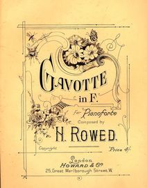 Gavotte in F - For Pianoforte