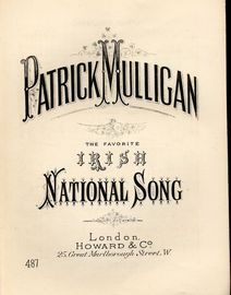 Patrick Mulligan - The Favourite Irish National Song -  Howard & Co edition No. 487