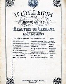Ye Little Birds (O Bitt' Euch, Liebe Vogelein) - Song in English / German - No. 5 of Hopwood & Crew's 'Beauties of Germany'