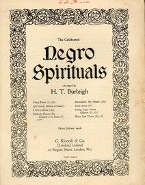 Negro Spiritual. Nobody knows de trouble I\'ve seen, for high solo voice