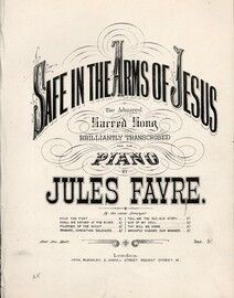 Safe In The Arms of Jesus  -  The Admired Sacred Song Transcribed for Piano
