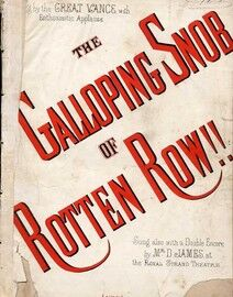 The Galloping Snob Of Rotten Row - The Celebrated Comic Song as Sung by the