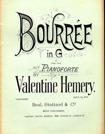 Bourree in G - For the Pianoforte