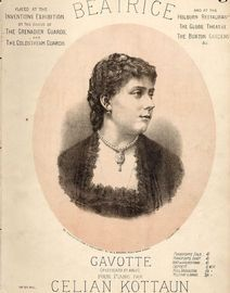 Beatrice - Gavotte for Piano Solo - The Success of Rivieres Promenade Concerts Covent Garden